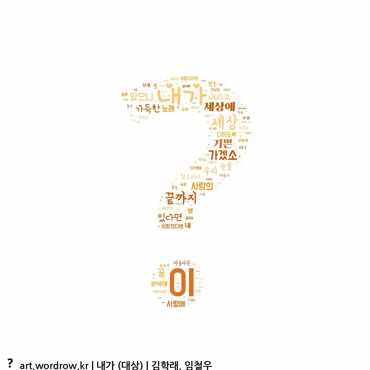 워드 아트: 내가 (대상) [김학래, 임철우]-3